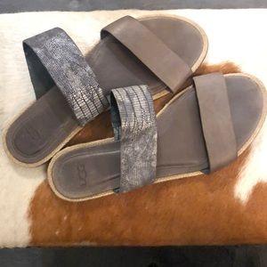 Ugg Grey snakeskin sandals